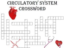 Biology Crossword Puzzle: Circulation System (Includes blood, vessels and heart)