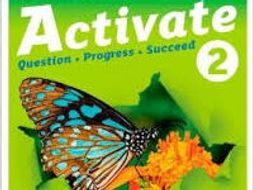 Activate 2 Biology Chapter 1 entire SOW