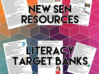 SEND Literacy Target Banks