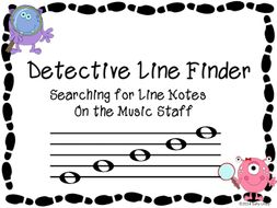 Detective Line Finder - Identify Line Notes on Music Staff