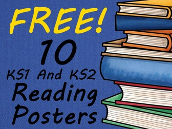 10 FREE Motivational Reading Posters For the Keystage 1 to Keystage 2 classrooms. Share them today!