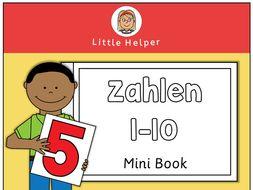 German Mini Book - Zahlen 1 bis 10