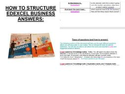 A-Level Business - Step-by-step of how to structure different mark question answers | Teaching ...