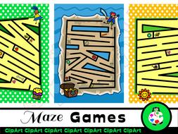 Printable Kids Fun Maze Activity Game