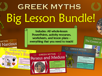 Greek Myths: Big Lesson Bundle! (All Lessons, Resources, Plans, Everything!)