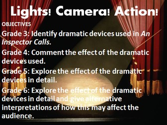 An Inspector Calls Lesson: Investigating the staging of Act 1. GCSE Edexcel English Literature 1-9.