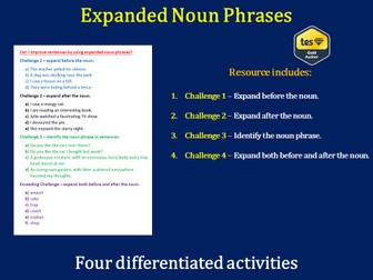 Expanded Noun Phrase (Differentiated)