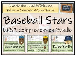 UKS2 - Great Baseball Players Bundle of Reading Comprehensions