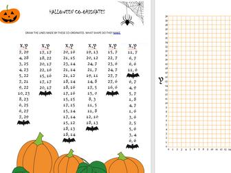 Maths- Halloween Co-ordinates