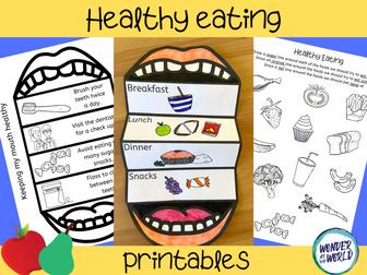 Healthy eating printables