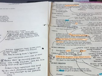 Complete annotated copy of Shakespeare's Twelfth Night