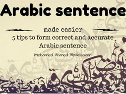 Five Tips to Form a Correct and Accurate Arabic Sentence