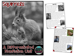 Differentiated Nonfiction Unit: Squirrels