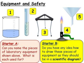 Year 7 Practical Skills, Equipment and Safety lesson KS3 Science