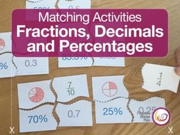 Fraction, Decimal & Percentage Matching Activity