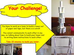 Paper Tower Challenge - Team Building KS1, KS2, KS3, KS4