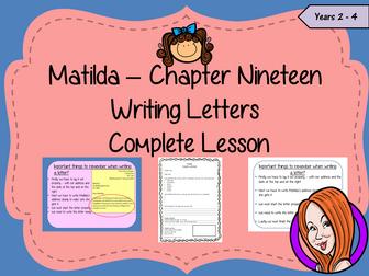 Letter Writing Complete Lesson – Matilda