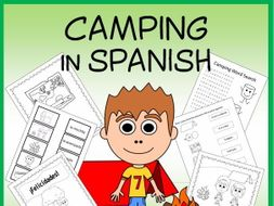 Spanish Camping Vocabulary Sheets and Worksheets