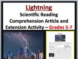 Lightning - Scientific Reading Comprehension Article – Grades 5-7
