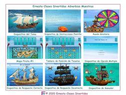 Adverbs Spanish Treasure Hunt Interactive PowerPoint Game