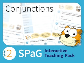 Year 2 SPaG Interactive Teaching Pack - Conjunctions