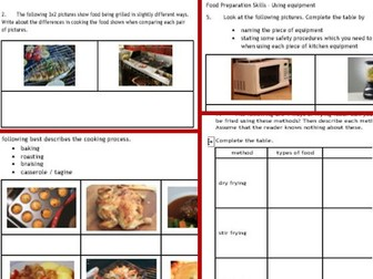 New gcse food technology aqaedexcel 2nd of 3 bundles incl 2 work new gcse food technology 3 aqaedexcel food prep skills 8 page forumfinder Gallery