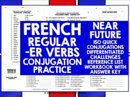 FRENCH -ER VERBS CONJUGATION PRACTICE #4 | Teaching Resources