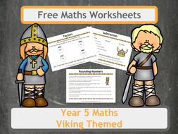 Free Viking Themed Maths Worksheets for Year 5  Classes