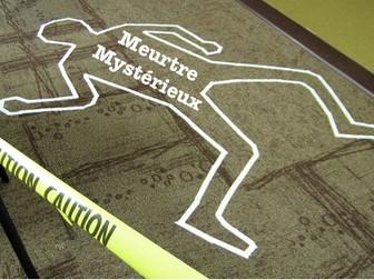 French Perfect Tense Murder Mystery - (passé composé)
