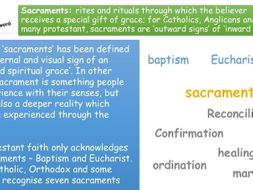 AQA new specification A Christianity practices level 9-1 Sacraments