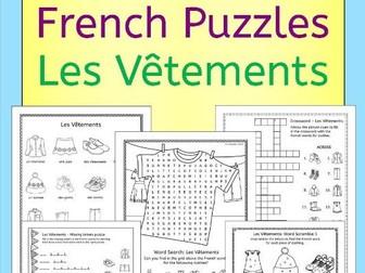 French clothing - les vetements - puzzles