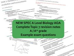 CONCISE A* A Level Biology AQA Topic 7 genetics, populations, evolution and ecosystems Revision Note