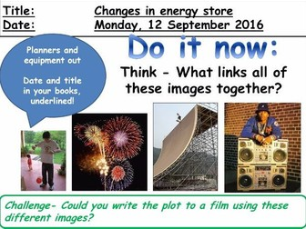 Changes in Energy Stores