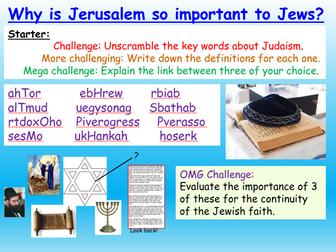 Judaism + Jerusalem