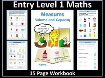 Volume and Capacity: AQA Entry Level 1 Maths
