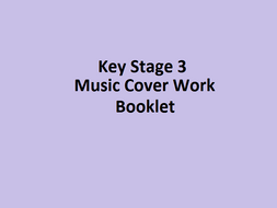Key Stage 3 Music Cover Booklet