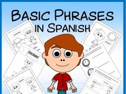 Spanish Polite Phrases Vocabulary Sheets and Worksheets