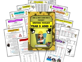 Year 3 and 4 Writing Knowledge Organsier / Toolkit by Mr A, Mr C and Mr D Present