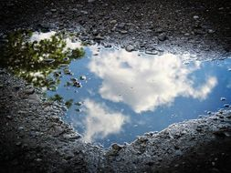 2 Poems about Clouds + Puddles (by author, published)