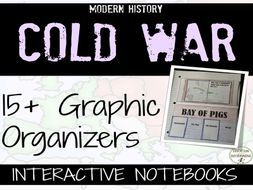 Cold War: Interactive Notebook Graphic Organizers on the Cold War