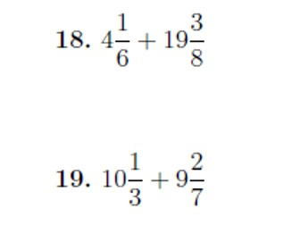 Adding and subtracting mixed numbers worksheet no 2 (with solutions)