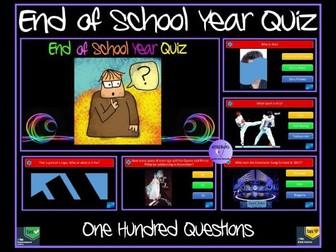Quiz: End of Year Quiz: Bumper 100 Question Quiz