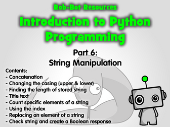Introduction to Python Programming Part 6: Manipulating String