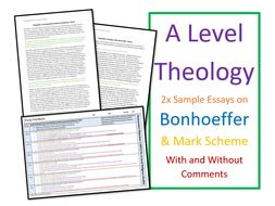 A Level Religious Studies: Bonhoeffer Sample Essays