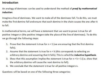 Edexcel Further Core Pure AS Topic 5: Proof by induction
