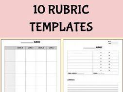 Blank Rubric Template Editable In Google Docs By Rombop Teaching