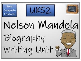 UKS2 History - Nelson Mandela Biography Writing Activity