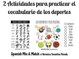 sports vocabulary activities spanish by vtarantino teaching resources. Black Bedroom Furniture Sets. Home Design Ideas