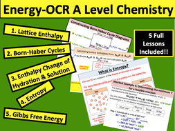 Energy (OCR A Level Chemistry)