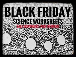 Black Friday Sale. 40 Science worksheets.
